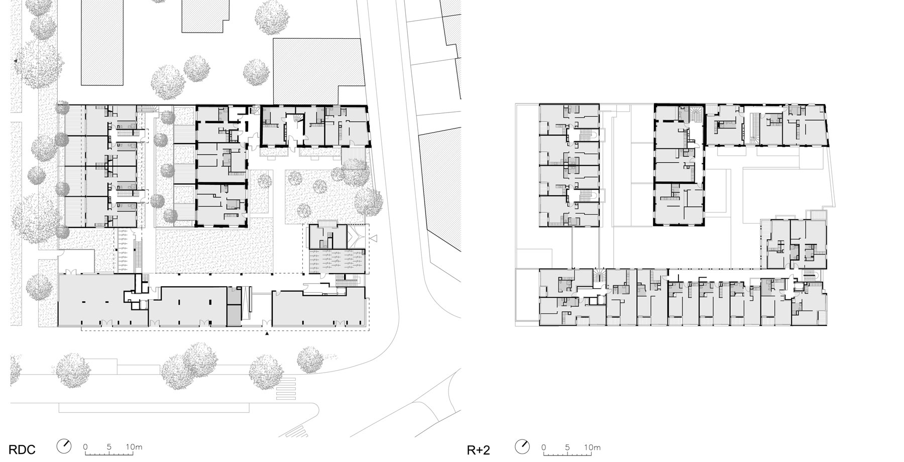 Logements Atelier JAM à Brétigny - Plans principaux