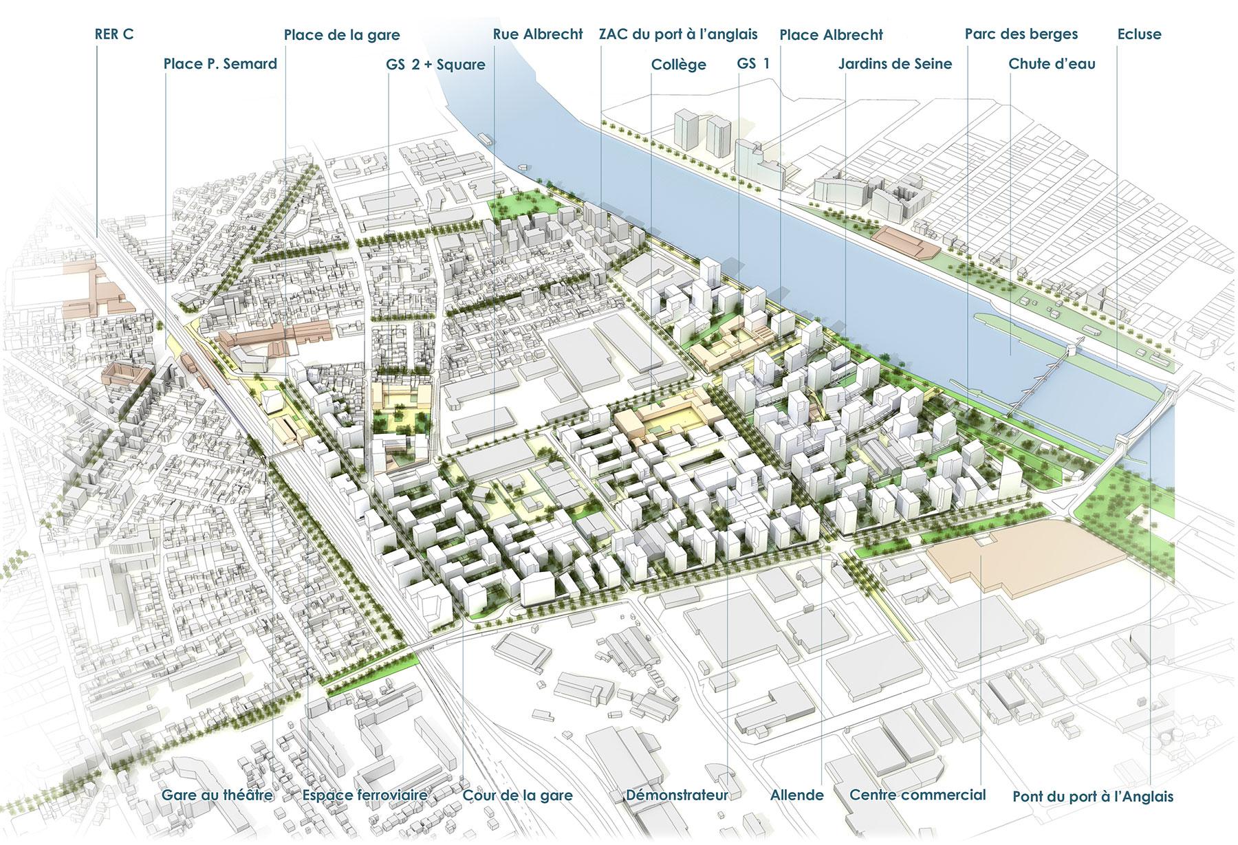 Vitry sur seine projet urbain seine gare germe jam for Projet architectural definition
