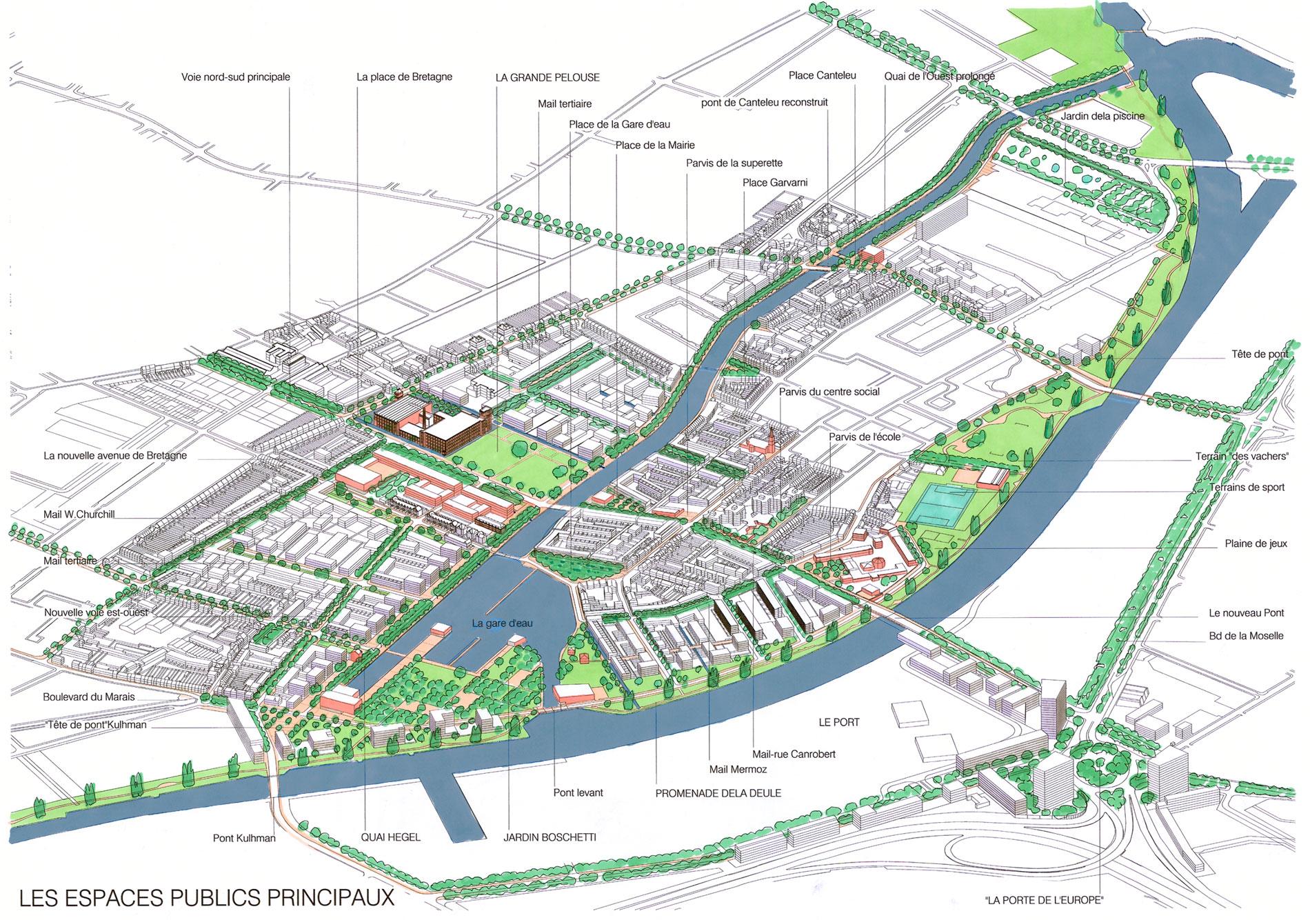 Projet urbain rives de la haute de le lille germe jam for Les espaces publics urbains