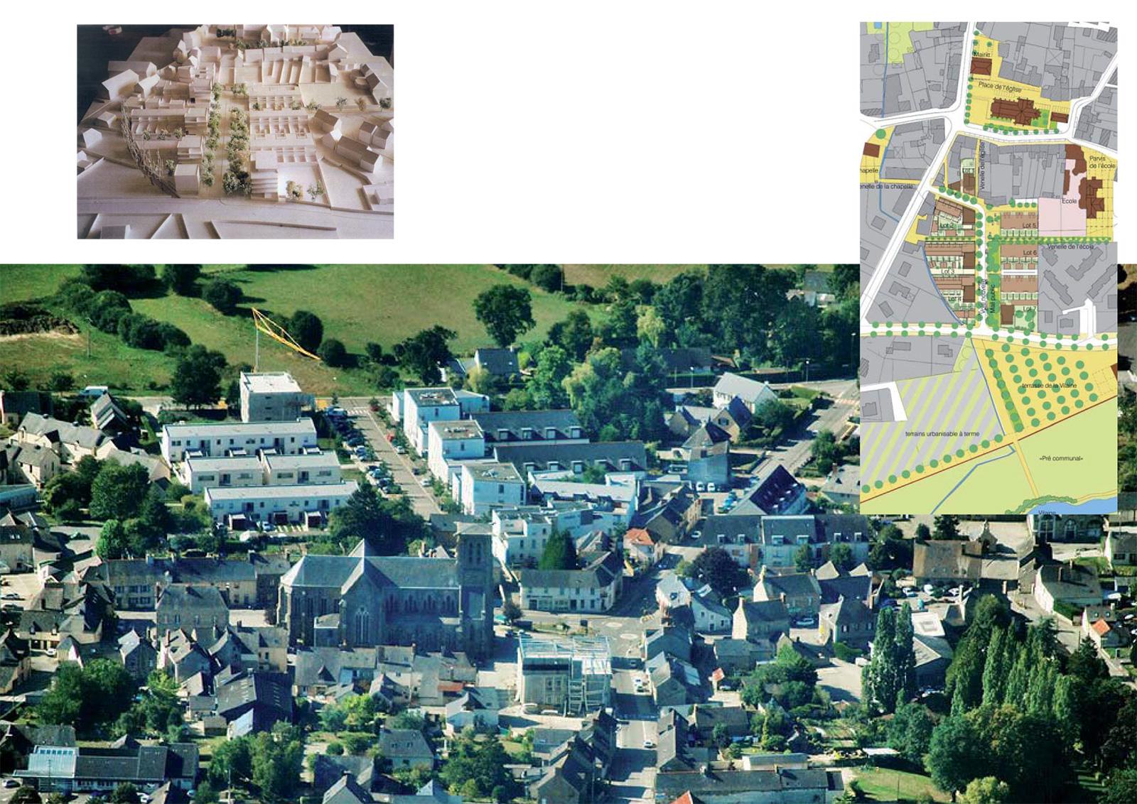 1-La ZAC des Vignes, un projet de consolidation, de densification et d'ouverture du centre bourg sur la campagne