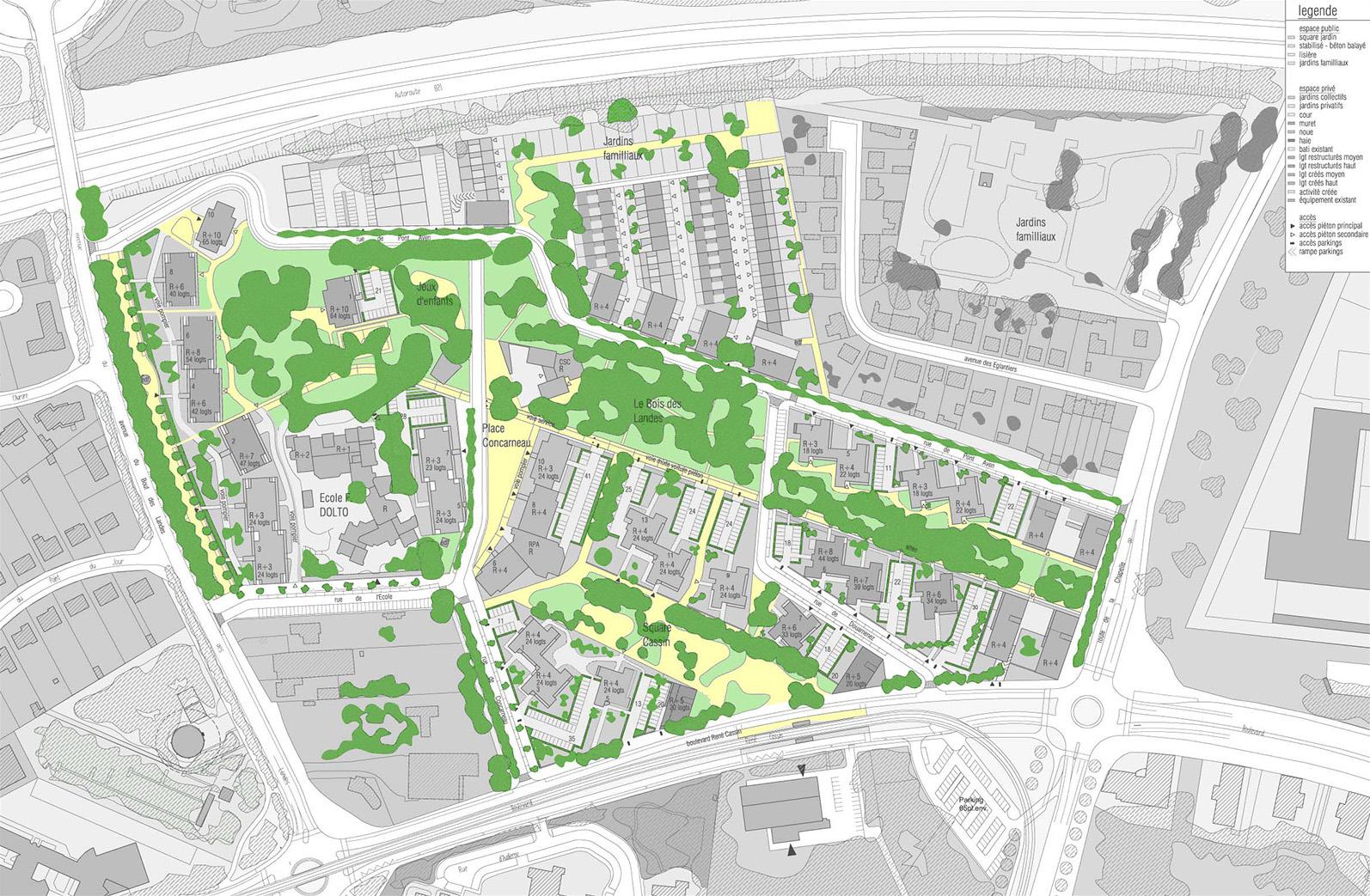 Plan d'espace public