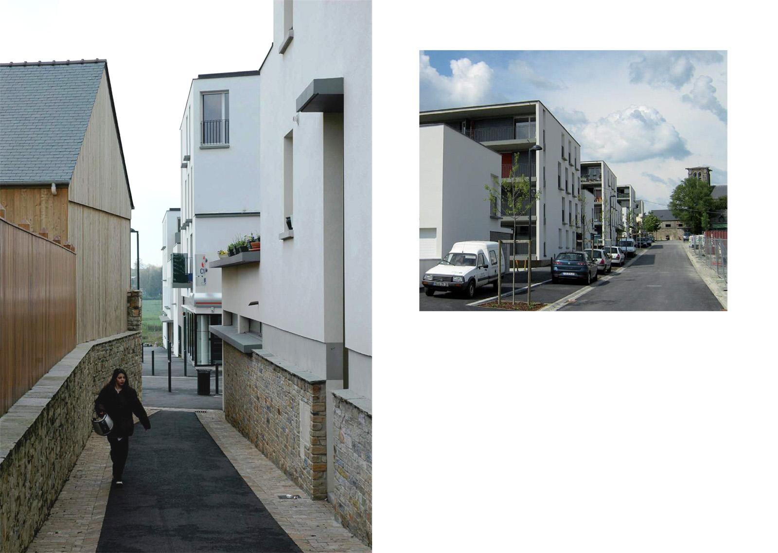3-Du nord au sud, ouvrir le centre bourg sur la campagne – la venelle de l'église et la nouvelle rue du mail