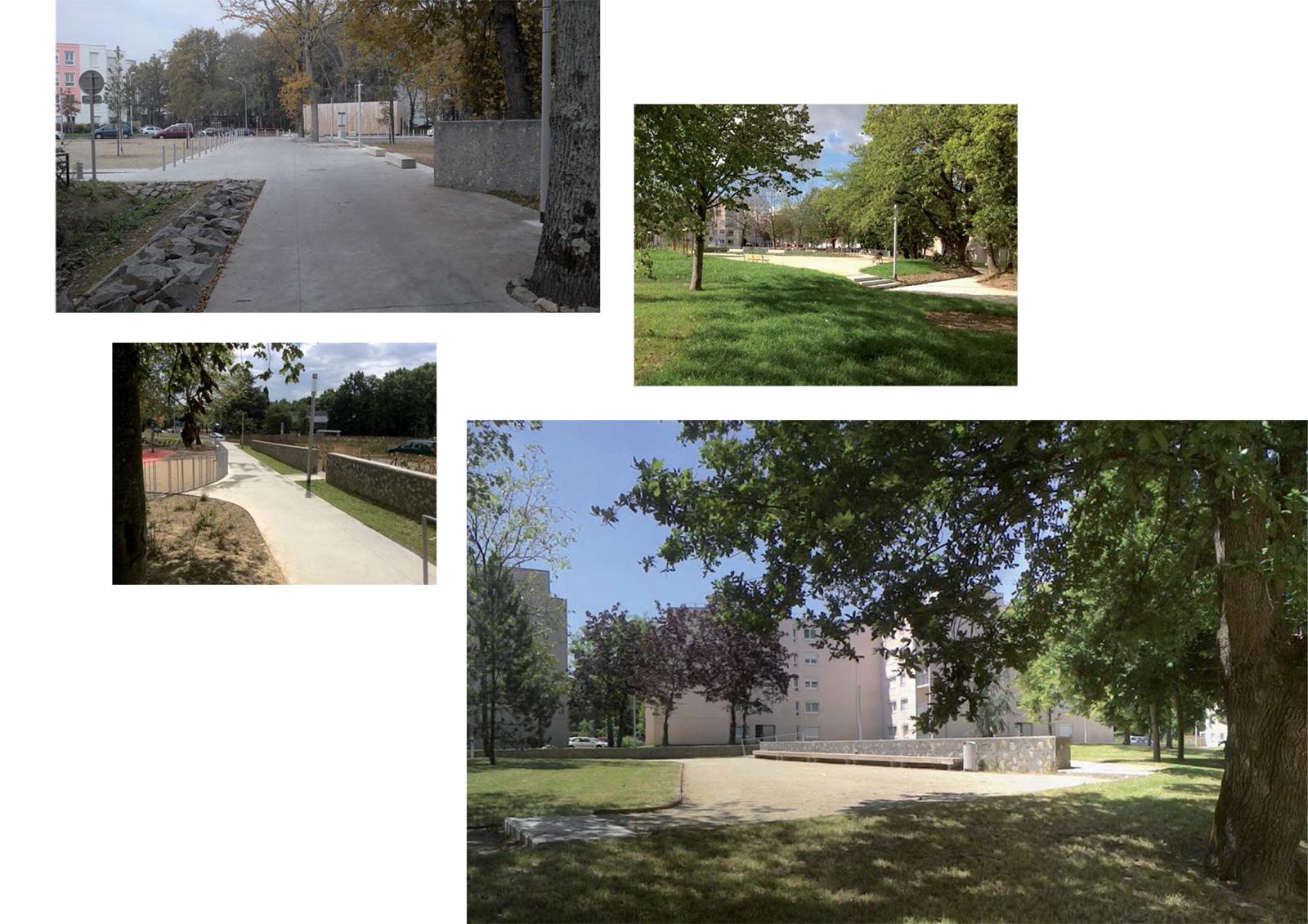 Espaces publics du quartier paysager