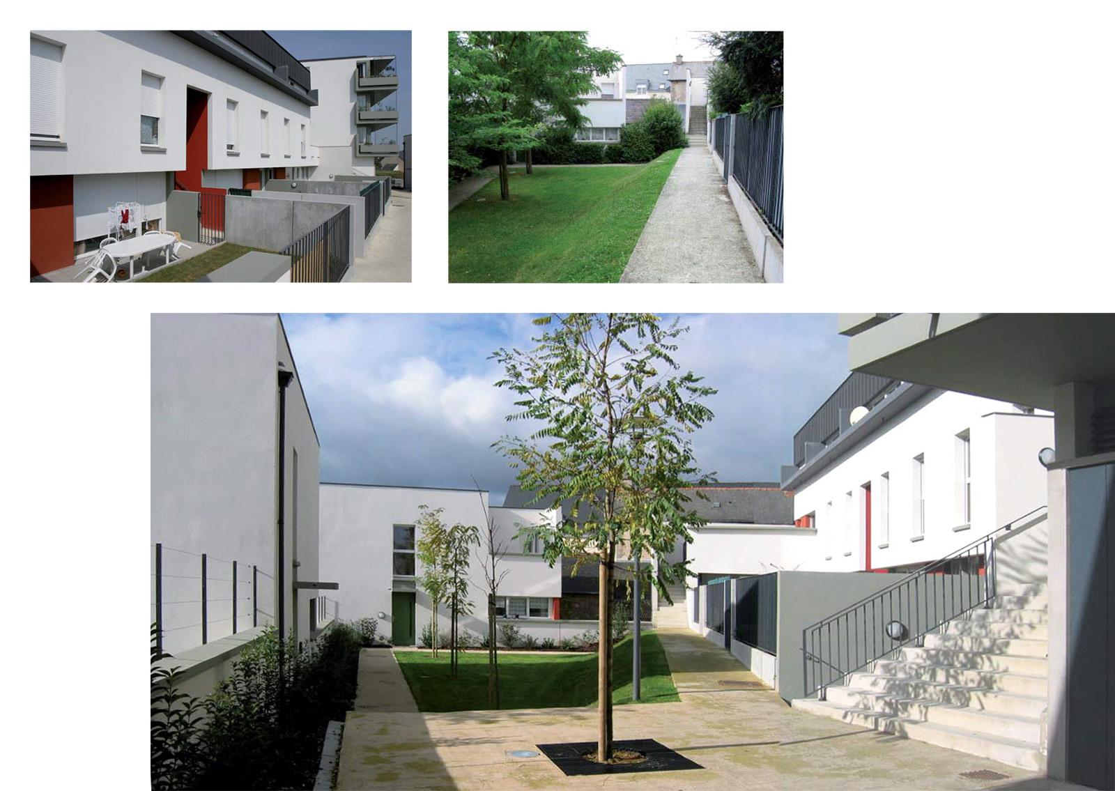 La cour jardin de la parcelle 2
