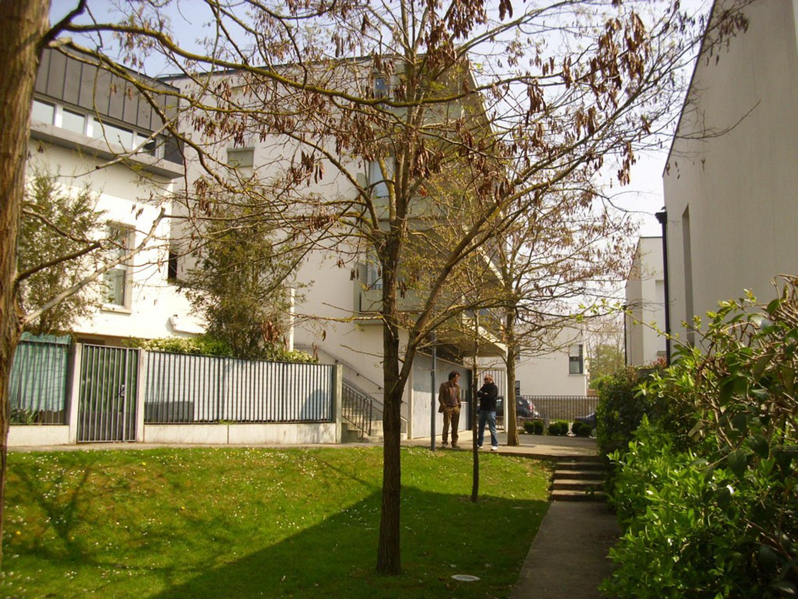 La cour jardin de la parcelle 2  - vue vers la rue