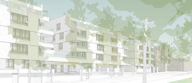 Construction de 58 logements et places de stationnement - Opération Schuman, Nantes (44)